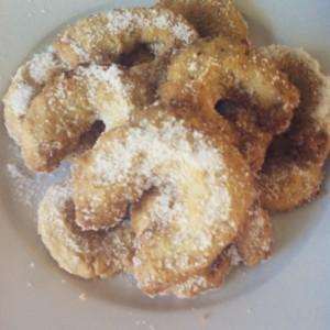 koekjes bakken met kinderen, kipferl.