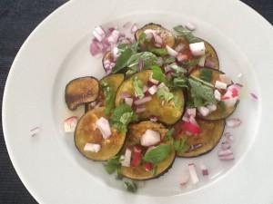 Powerlunch: gegrilde aubergine salade